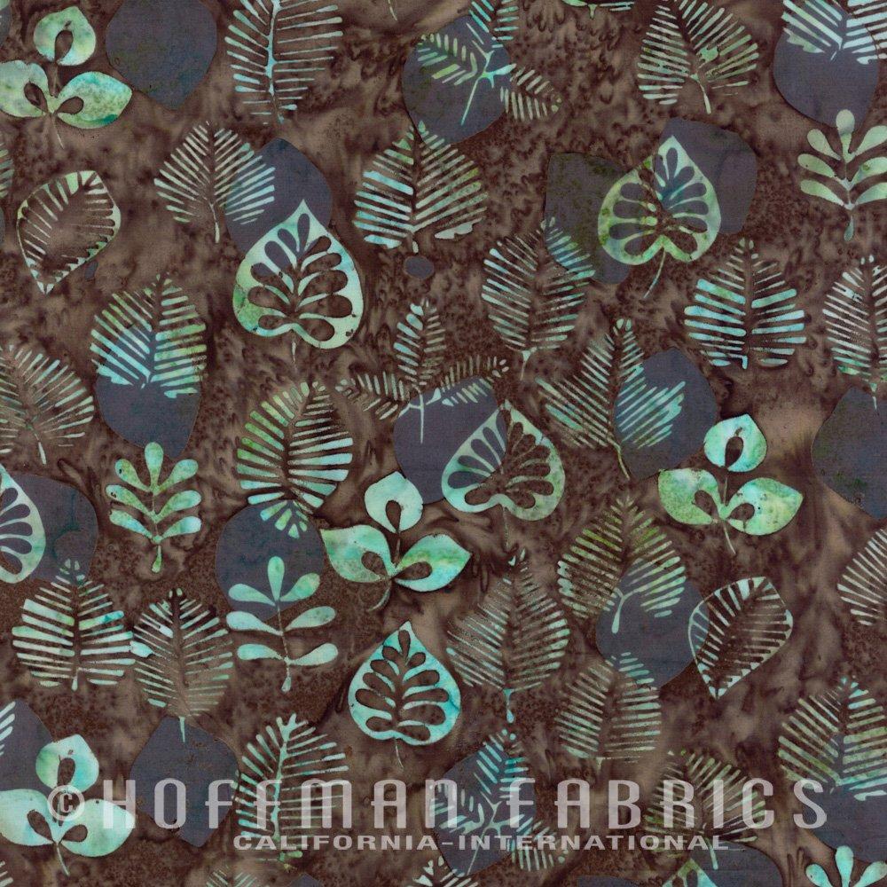 Bali Batik Leaf Print Stone & Green