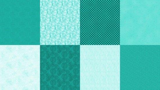 8 Fat Quarter Panel - Turquoise