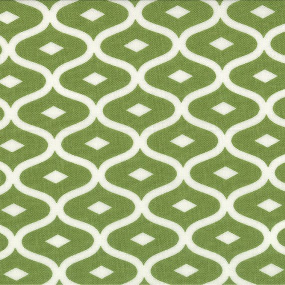 Simply Style Green/White Geometric