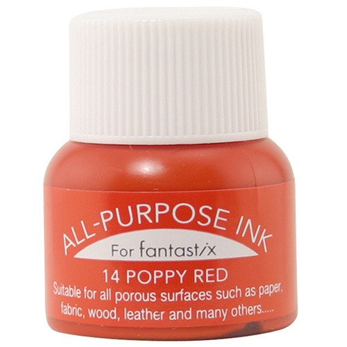 Tsukineko All Purpose Ink #14 Poppy Red
