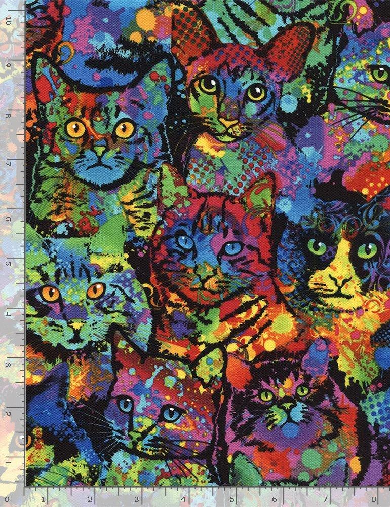 Paint Splatter Cats on Black