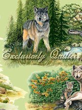 Wolf Song Allover Wolves Print
