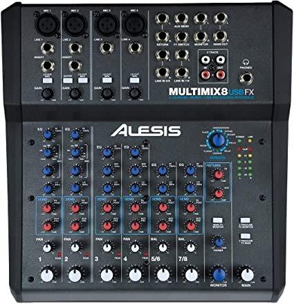 ALESIS MULTIMIX8 USBFX 8 CHANNEL MIXER