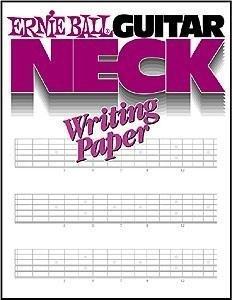 ERNIE BALL GUITAR NECK WRITING PAPER BOOK