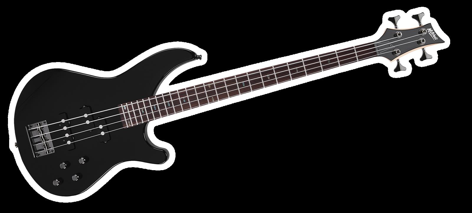 MB200BK Mitchell Electric Bass Guitar Black