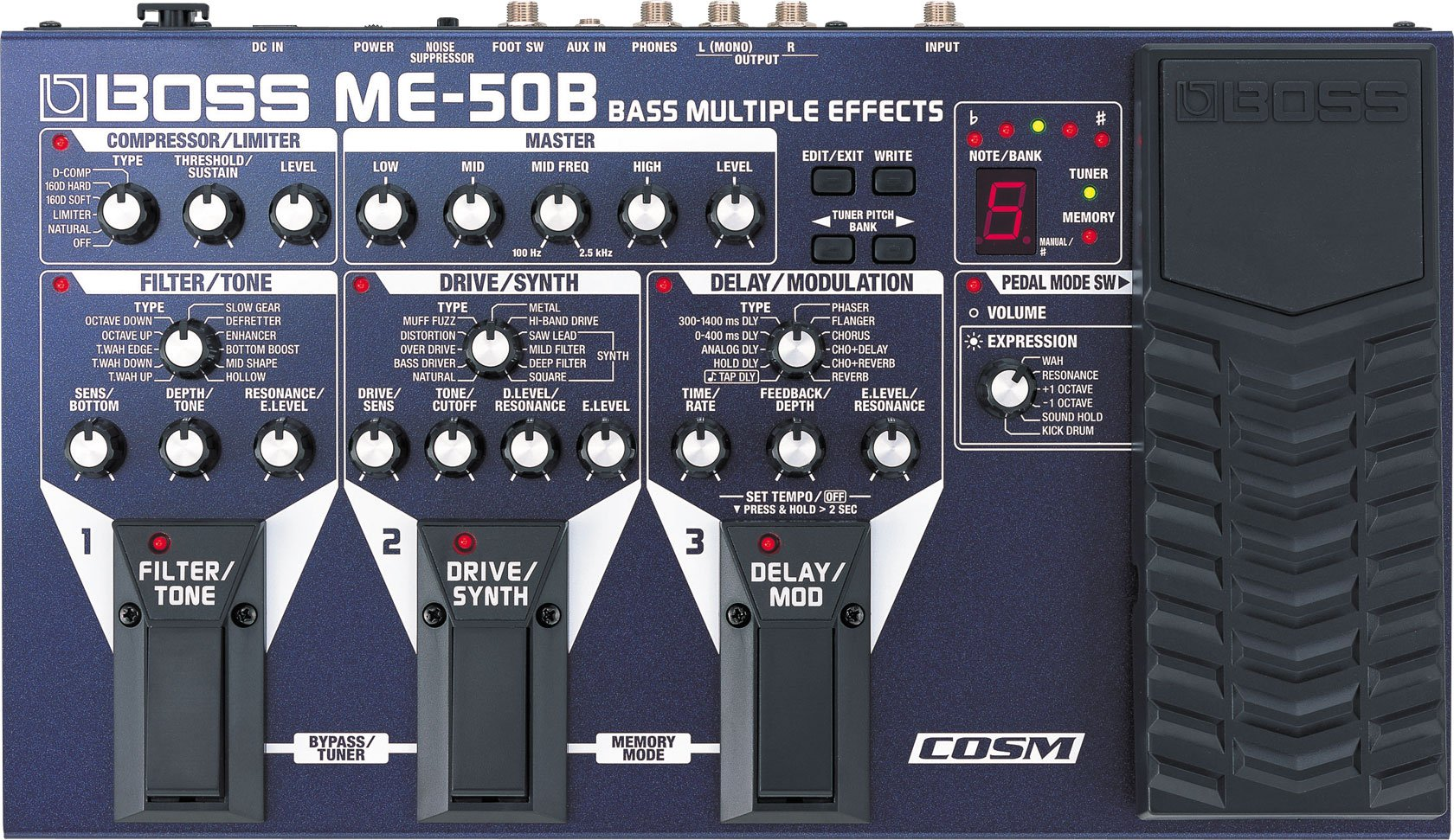 BOSS ME-50B BASS MULTI EFFECTS BOARD