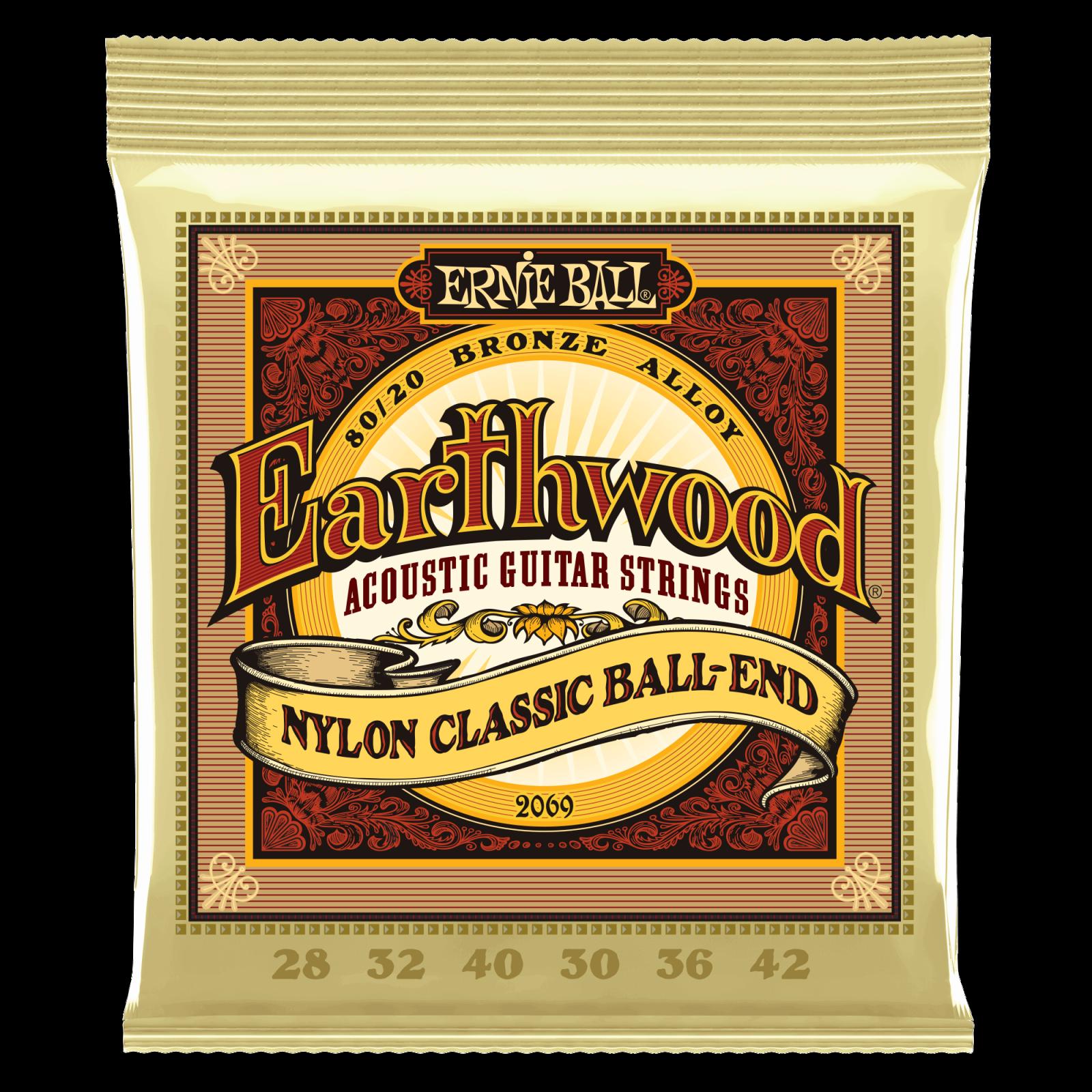 2069 EARTHWOOD NYLON BALL-END CLASSICAL STRINGS