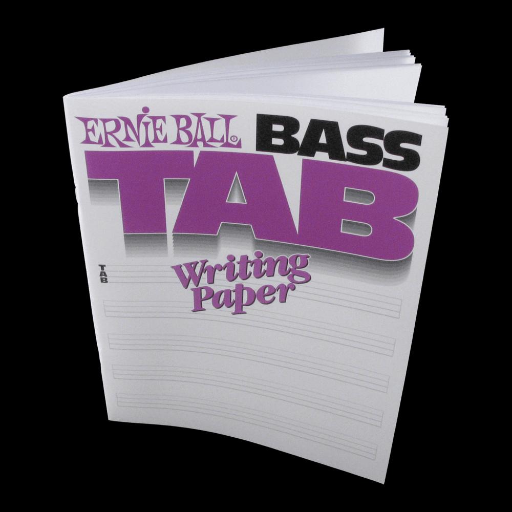 ERNIE BALL BASS TAB WRITING PAPER BOOK