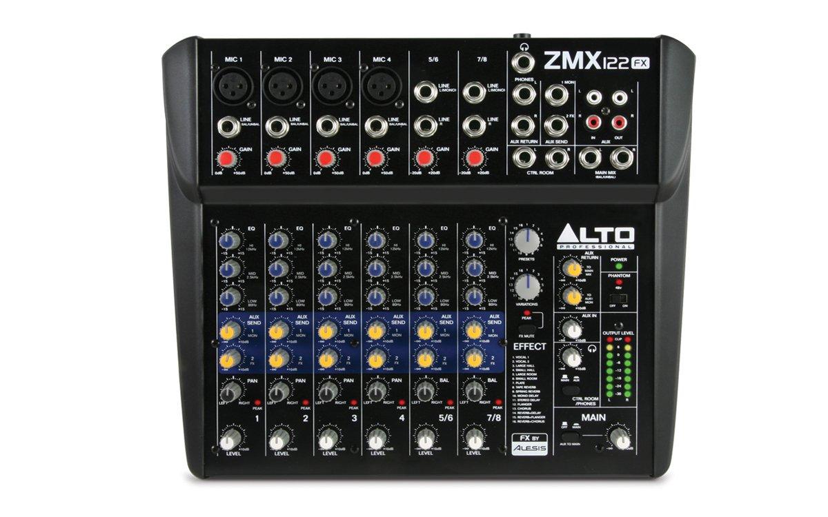 ALTO ZEPHYR ZMX122FX 8 CHANNEL MIXER