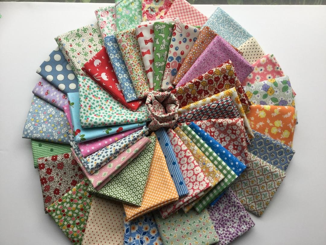 Fat Quarter Bundle - 30's fabrics  - Larged Mixed Bundle of 10