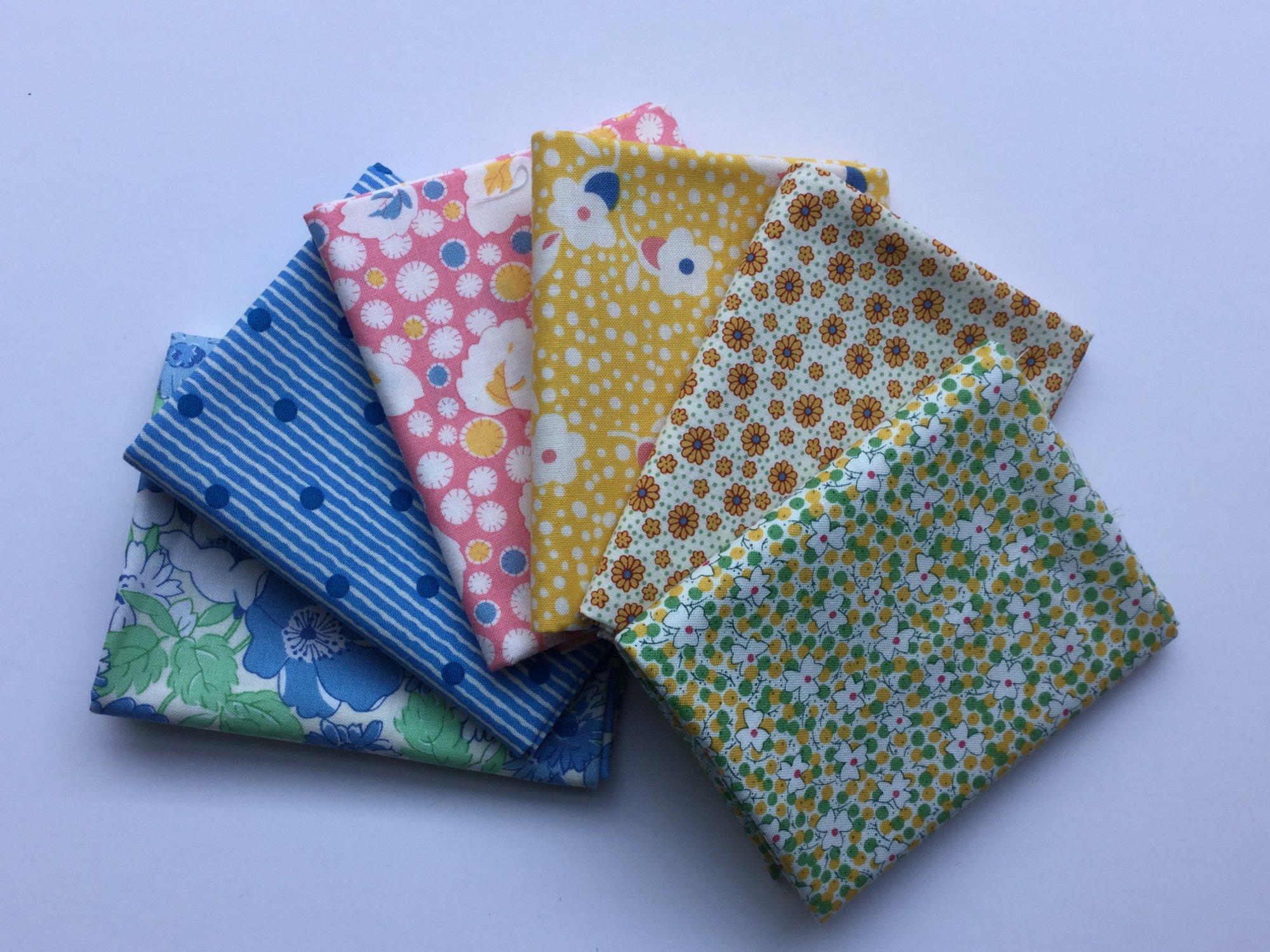Fat Quarter Bundle - Reproduction Civil War fabrics  - Large Mixed Bundle of 10
