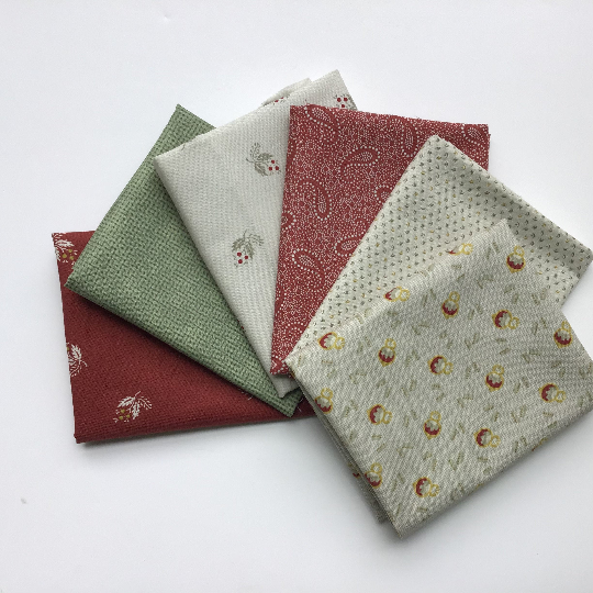 Fat Quarter Bundle  - Brick  -By Timeworn Toolbox