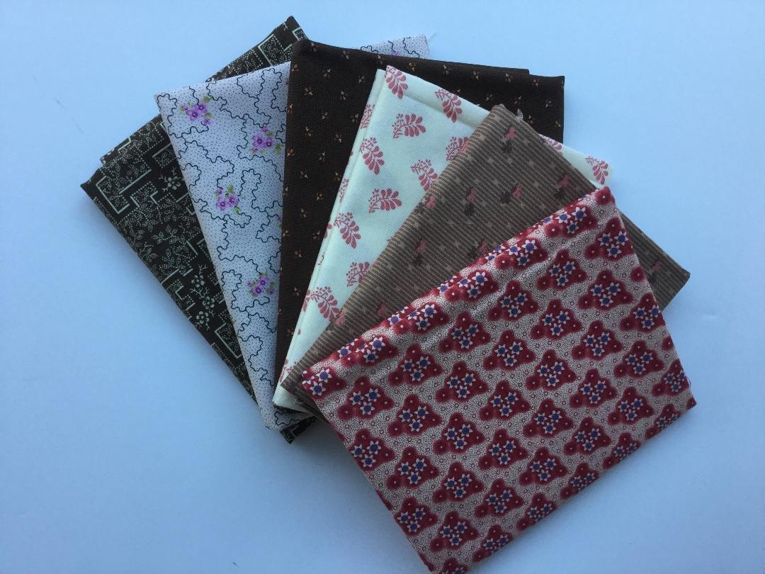 Fat Quarter Bundle 0107 - Pink and Brown