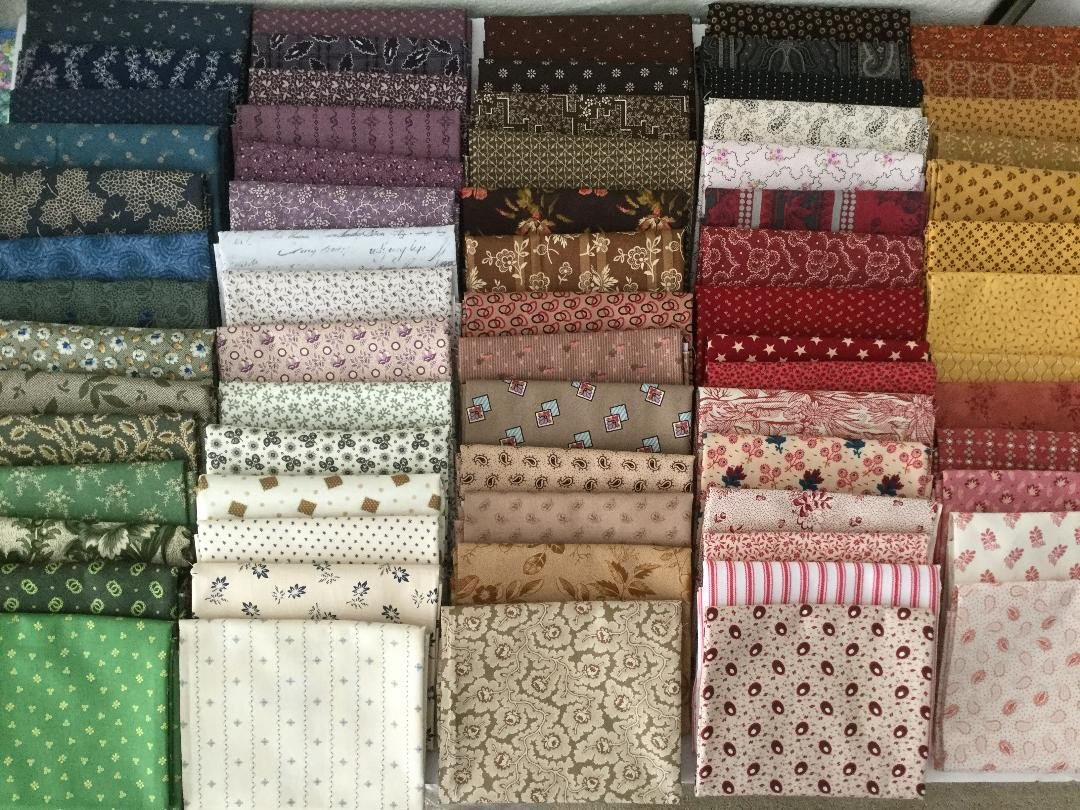 Fat Quarter Bundle - Reproduction Civil War fabrics  - Larged Mixed Bundle of 10
