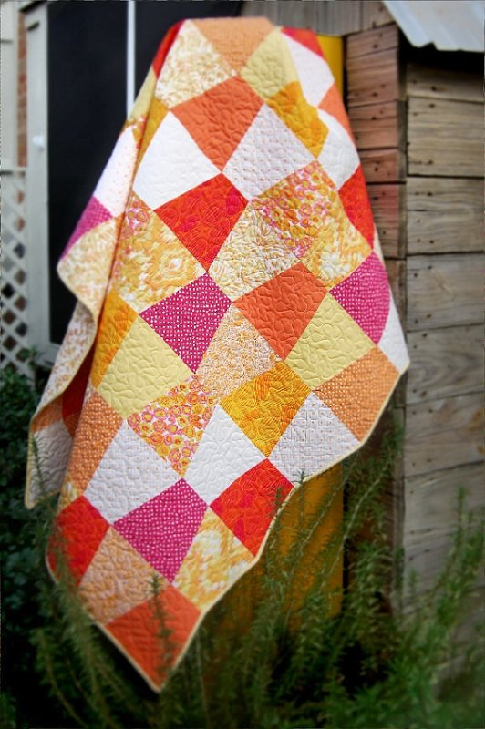 Hot Citrus Pre-cut Quilt Kit -