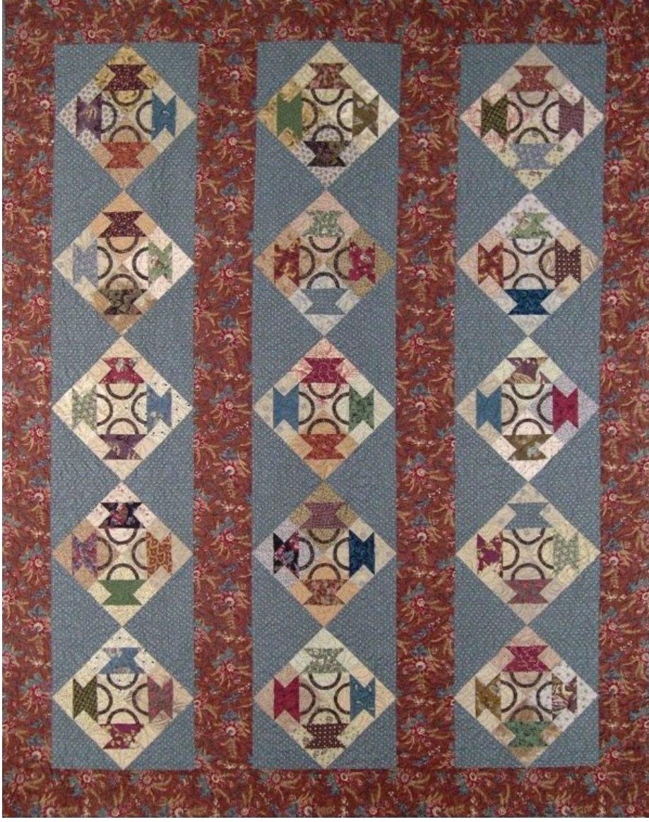 Harriet''s Baskets Pattern - Red Crinoline Quilts