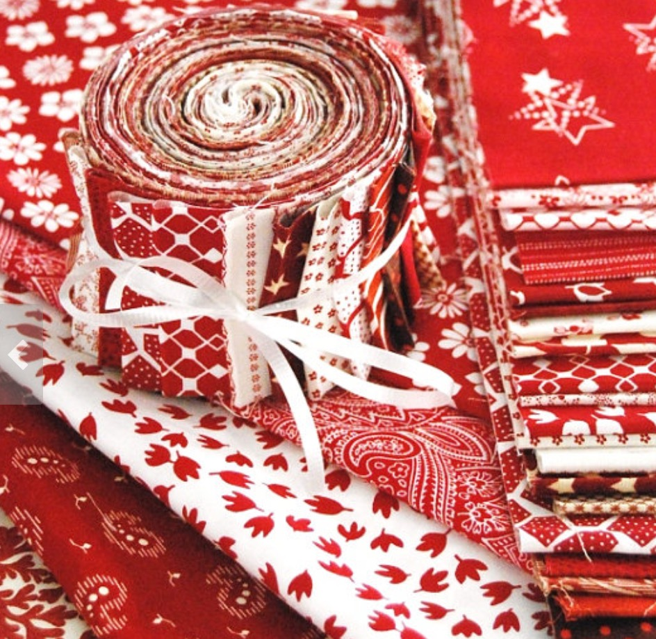 Red and White Jelly Roll - 20 pc.