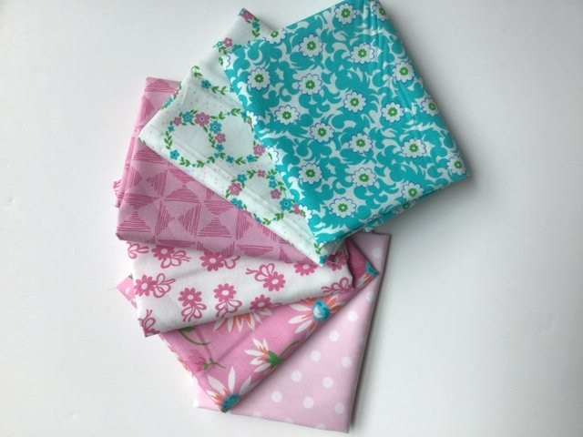 Fat Quarter Bundle  -  Bright pinks from Me & My Sister Designs