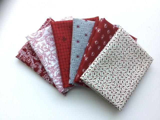 Fat Quarter Bundle  - 812 - Red and blacks