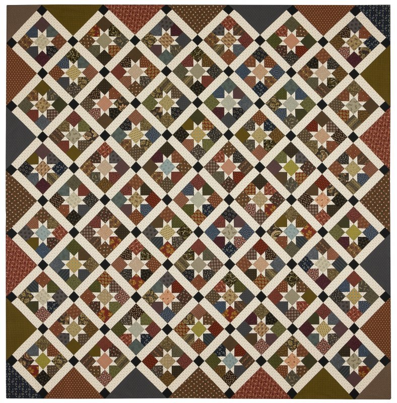 Hanover  Stars Pattern - Red Crinoline Quilts - RCQ072