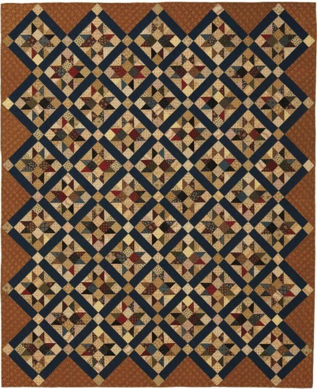 Regimental Stars Pattern - Red Crinoline Quilts - RCQ0062