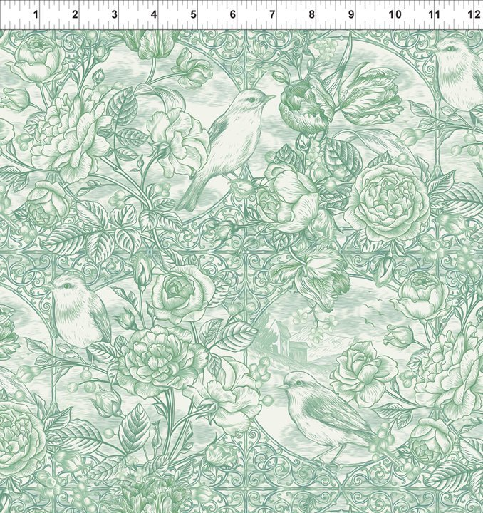 In The Beginning Fabrics - Romance - 11BQR 3