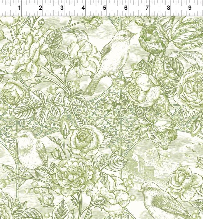 In The Beginning Fabrics - Romance - 11BQR 4