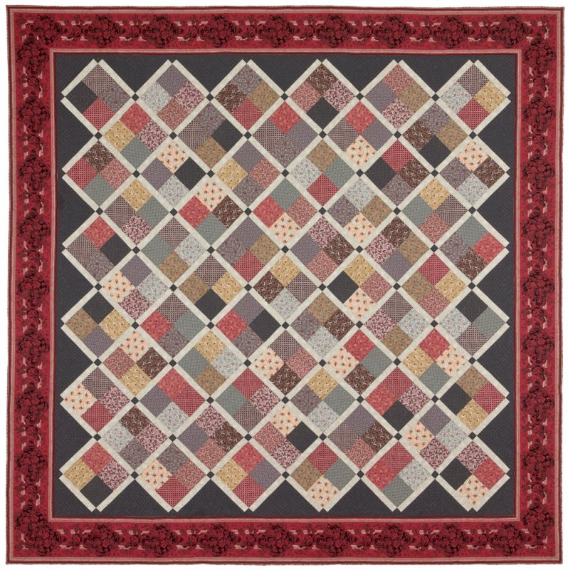 Savannah Quilt Pattern - Red Crinoline Quilts. -  94 X 94