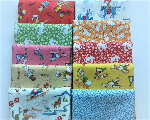 Fat Quarter Bundle of 10 - Windham Fabrics  - Storybook Ranch 2