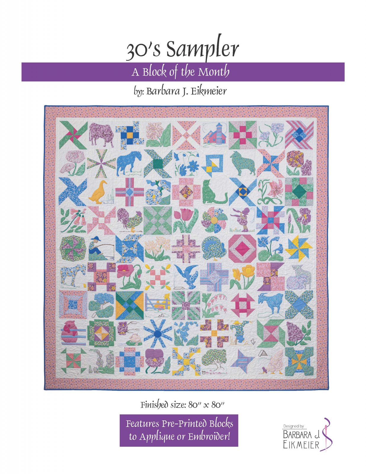 30s Sampler Block of the Month