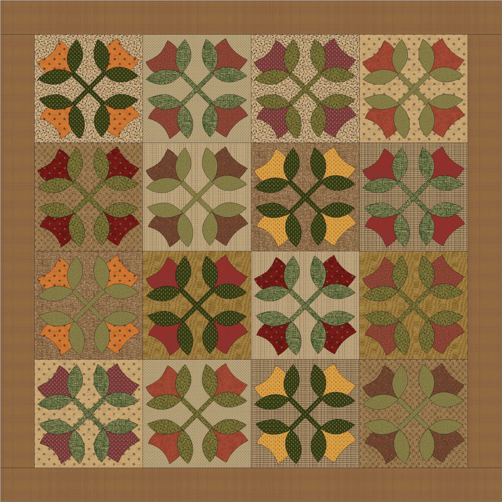 Tulip Tree Applique Pattern