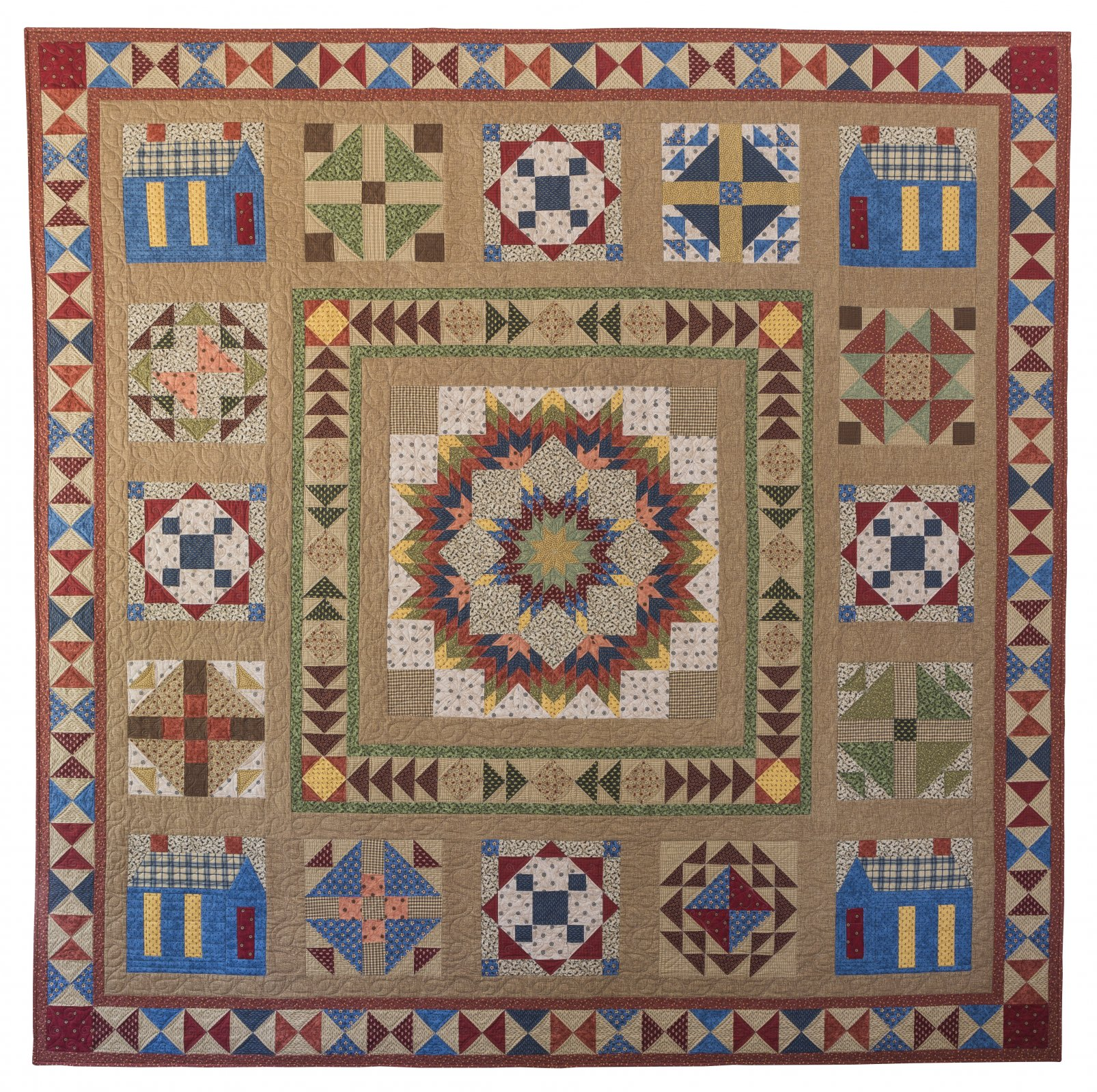Waddington Road Sampler Block of the Month Pattern