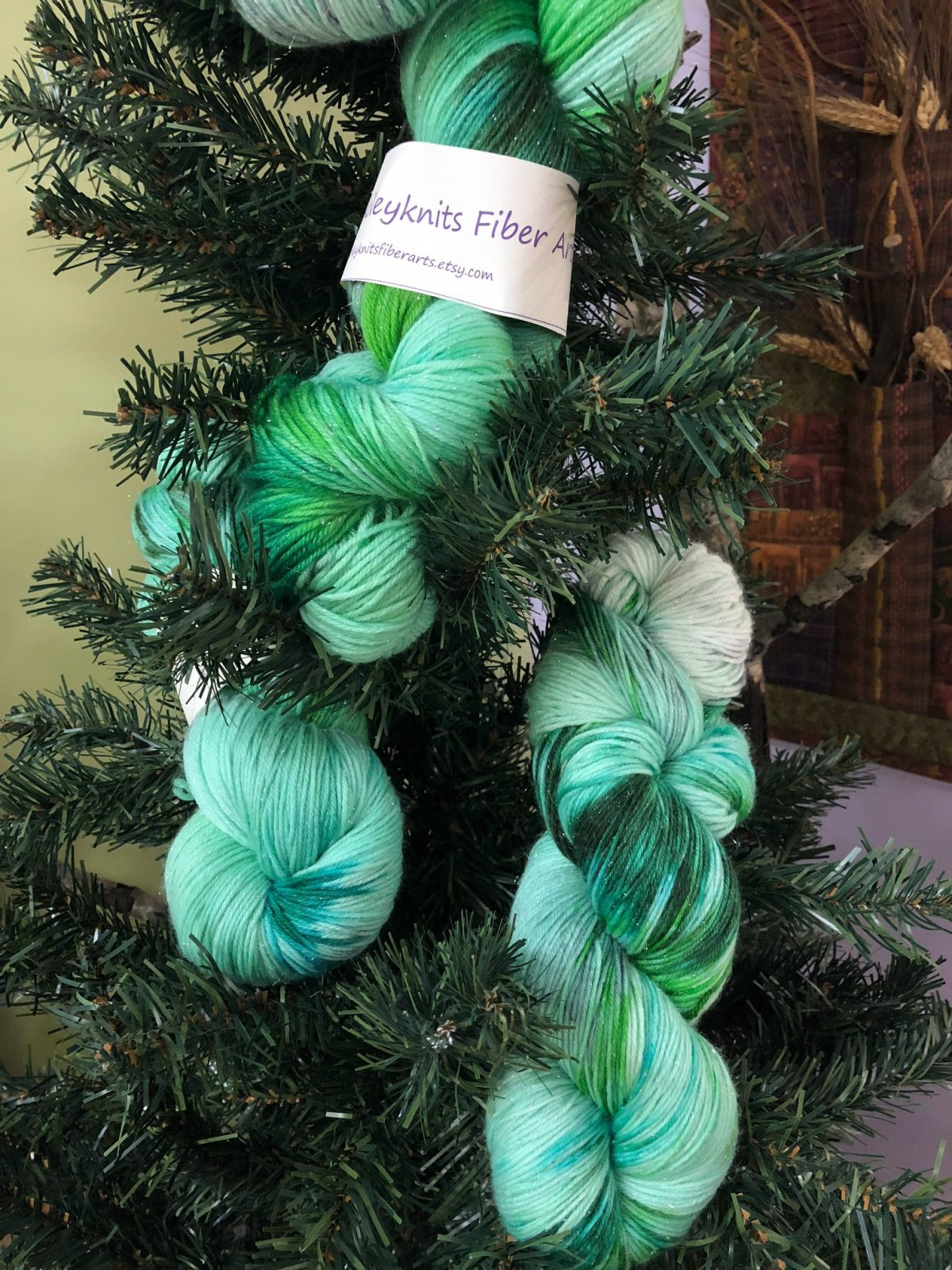 Mint Fondant Rock Candy Sock Yarn for March 2018 at North Woods Knit & Purl