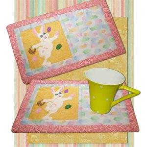 Bunny Snacks Beverage Mat Pattern by 2 Easy Designs
