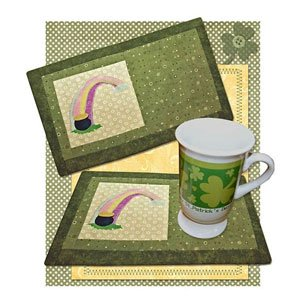 Rainbow's End Beverage Mat Pattern by 2 Easy Designs