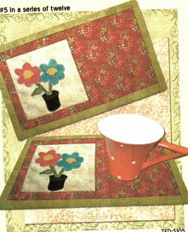 Spring Blooms Beverage Mat Pattern by 2 Easy Designs