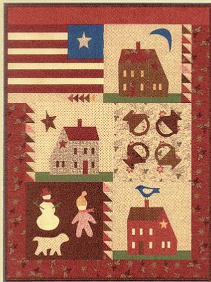 3 Houses Quilt Pattern by Jan Patek