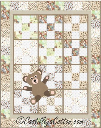 9-Patch Teddy Quilt Epattern by Castilleja Cotton
