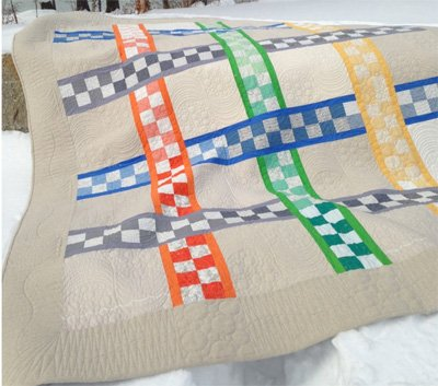 A Checkered Path Quilt Pattern by Midcoast Cottage Design