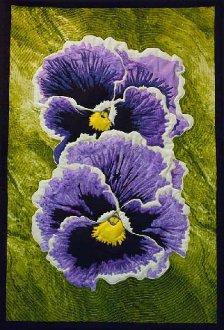 Remember Me Pansy Wallhanging Pattern by Amoung friends
