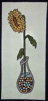 Sunflower in Marbles Wallhanging Pattern by Another By Anita