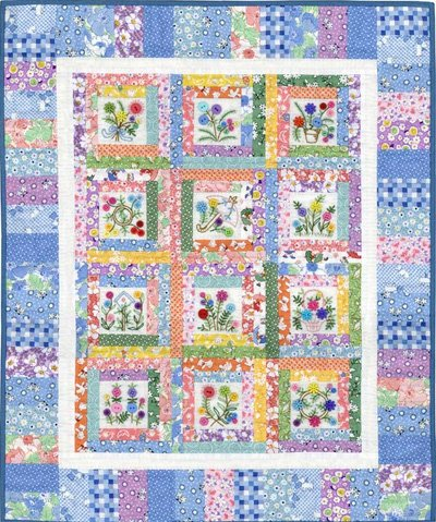 Abby Lynn's Button Bouquet Quilt Pattern by From My Heart To Your Hands