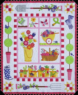 Garden Quilt Pattern by Amy Bradley Designs