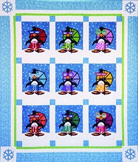 Penguin Paradise Quilt EPattern by Amy Bradley Designs