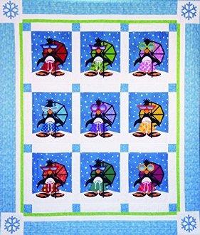 Penguin Paradise Quilt Pattern by Amy Bradley Designs