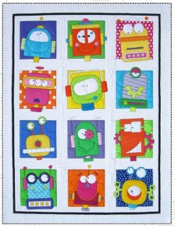 Robots Quilt Pattern in 3 Sizes by Amy Bradley Designs