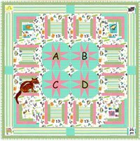 C is for Chipmunk Baby Quilt Pattern by Among Brenda's Quilts