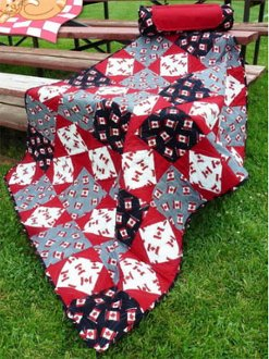 Roll & Go Stadium Blanket Pattern by Among Brenda's Quilts