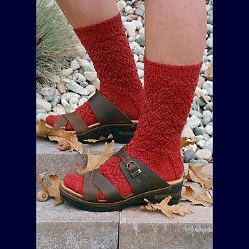 Acorn Socks Knitting Pattern by Fiber Trends