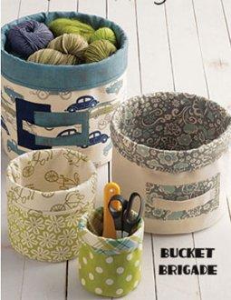 Bucket Brigade Bucket Pattern by Atkinson Designs